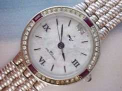 Original LZ platinum plated lady watch