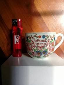 119 Antik cawan kopitiam not glass mug cup gelas