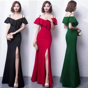 Black red green blue slit prom dress RBP0837