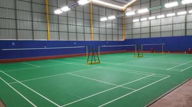 Rubberize badminton flooring