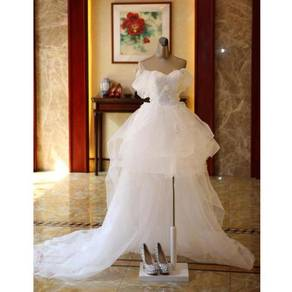 White wedding bridal prom party dress gown RB0373