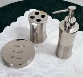 Bathroom Set - Stainless Steel