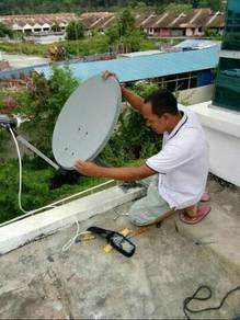 Servis pindah-pasang,setting piring satelit tv