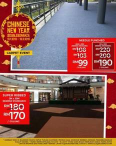 Chinese new year double bonanza for event carpet