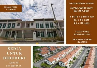 Rumah Teres 2 Tingkat Project Baru Termurah Di Kuantan !!!