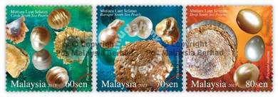 Mint Stamp Pearls Malaysia 2015
