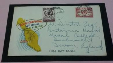 FDC Ecafe Malaya 1958 No 1627