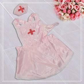 L072 Sexy Pink Nurse Costume Babydoll Lingerie