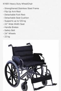 Kerusi Roda Saiz XXL (Untuk Pesakit Obesiti)