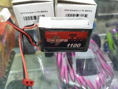 Wild Scorpion 11.1v 1100mah 25c 3s Rc Lipo Battery