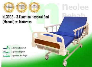 Katil Hospital 3 Fungsi (Manual)