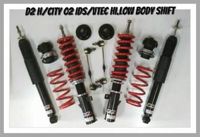 D2 adjustable hi low bodyshift CITY JAZZ GD GE GK