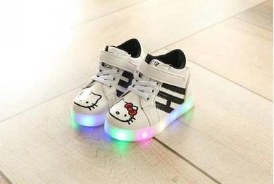 High-Cut Hello Kitty Shoe with LED Light 863-WHITE