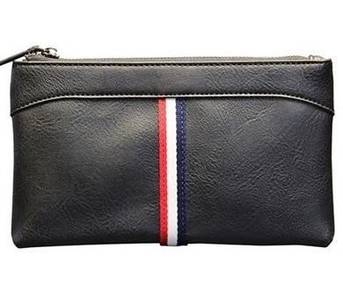 J042 NEW Big Size Clutch Bag Black Long Wallet