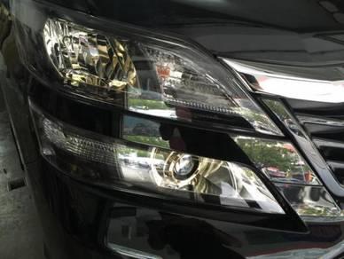 Vellfire facelift golden eye 2 head lamp set