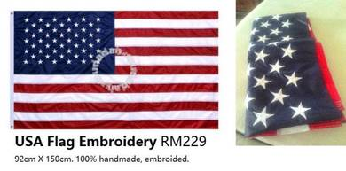 US Flag United States Printed Embroidered Flag