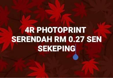 4R photoprint serendah 27 sen