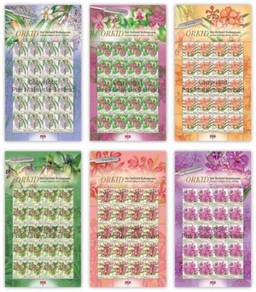 Mint Stamp Sheet National Orchid Series Msia 2017