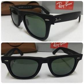 Ray: Ban Wayfarer Matte Black (Lens Dark Green)