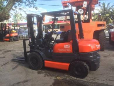JAPAN FULLY Imported TOYOTA 2.5 ton 6FG FORKLIFT