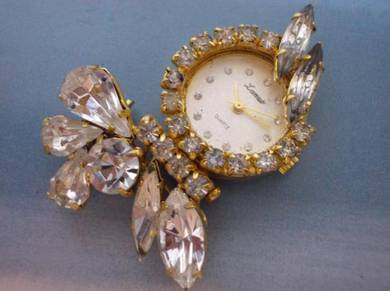 Vintage Lamue brooch watch