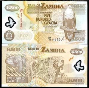 Zambia 500 kwacha 2008 p new polymer unc
