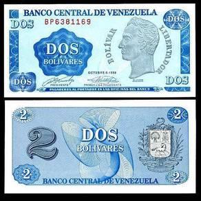 Venezuela 2 bolivares 1989 p 69 unc