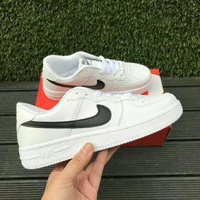 Nike Air Force White ( Black Logo )
