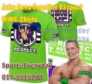 WWE WWF T Shirts Baju John Cena Cenation Respect