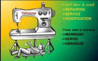 Repair and modify sewing machine