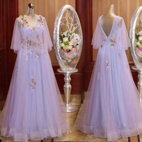 Lilac purple fairy bridal prom dress gown RB0380
