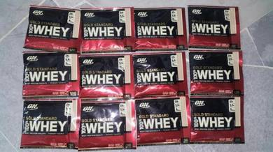 On gold standard 100% whey protein isolate build m