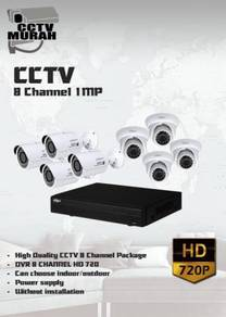 THE BEST CCTV 8 CHANNEL 1MP/HD - a19b