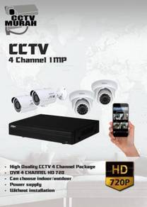 THE BEST CCTV 4 CHANNEL 1MP/HD - a19a