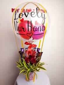 Hot Air Balloons / Coklat Bunga Segar /Murah