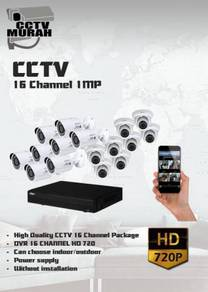 THE BEST CCTV 16 CHANNEL 1MP/HD - a19c