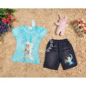 Style Charming Frozen Set Top Jean