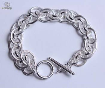 ABBS9-S024 Simple Atmospheric Silver 925 Bracelet