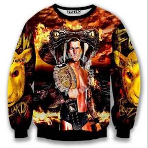 WWE Wrestling Long Sleeves Baju Panjang Jacket