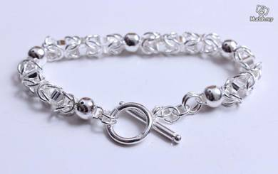 ABBS9-S022 Simple Atmospheric Silver 925 Bracelet