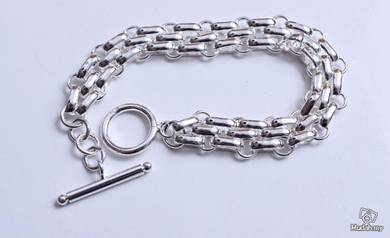 ABBS9-S021 Simple Atmospheric Silver 925 Bracelet