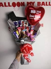 Jambangan Coklat / Bunga / Hadiah / Surprise