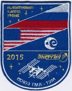 Soyuz TMA-19M Agat Russia Human Space Patch