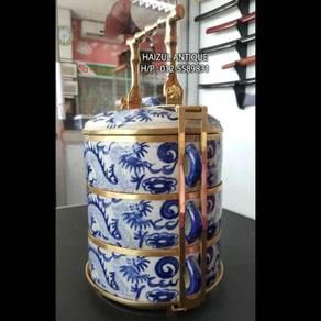 Porcelain Tiffin Carrier No. 10 (Dragon Motif)