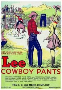 Poster lee jeans vintage