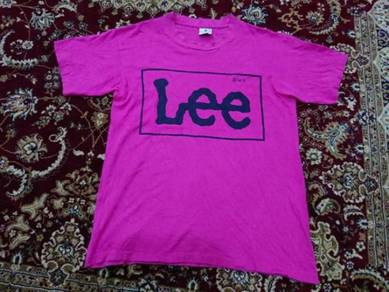 Lee t shirt big logo made in usa