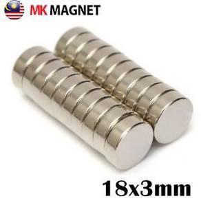 18x3mm Round Strong Magnet Neodymium Magnet