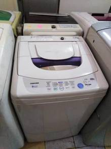 Toshiba Auto Basuh 7kg Recon Washer Top Load Mesin