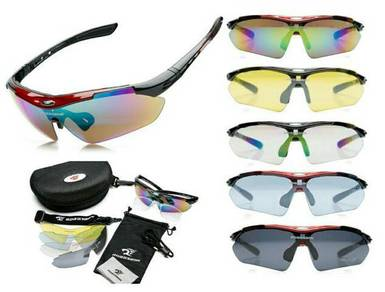 Robesbon Polarized Sunglasses + 5 Changeable Lens