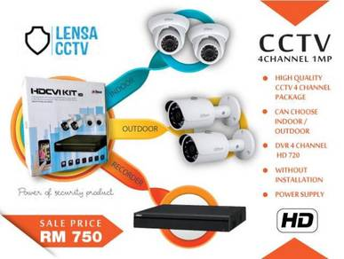High Quality CCTV 4 Channel 1mp -m120b